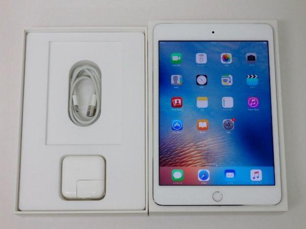極美品 SIMフリー iPad mini 4 Wi-Fi+Cell 64GB シルバーの画像1