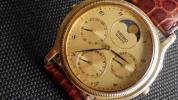 ★セイコー ムーンフェイズ 7F38-6180メンズ クォーツ腕時計★