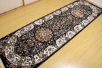 ランナー 高級天然シルク100% ペルシャ柄絨毯 新品 80×250