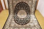 高級天然シルク100% ペルシャ柄絨毯 新品未使用 160×230