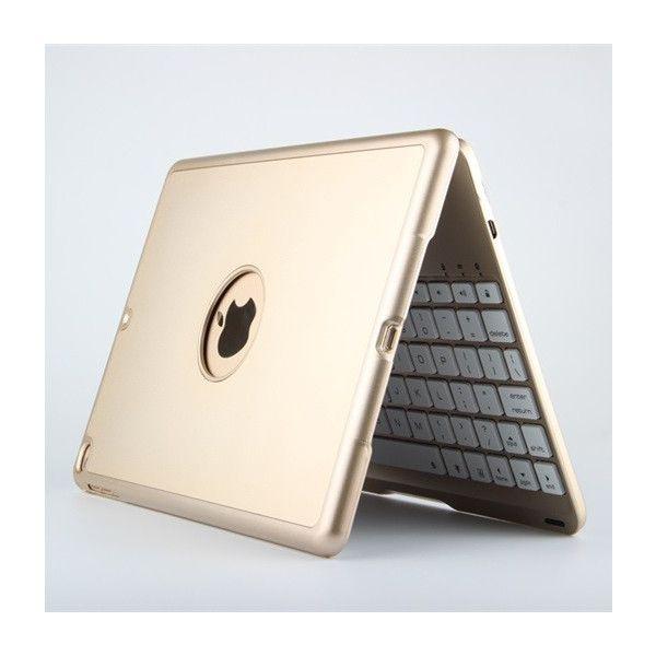 バックライト付きiPad Air2キーボード一体型ケース アルミ 光る