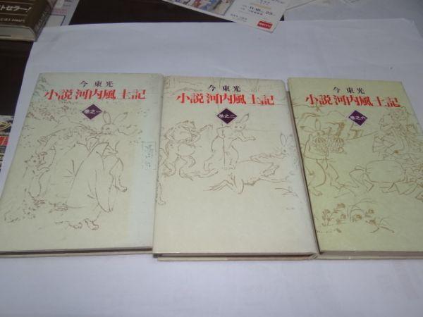 803今東光『小説 河内風土記3冊(全6冊)』初版の画像1