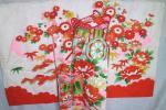 ◆女の子 三ツ身 3歳 正絹 綸子 金刺繍 花車 正月 七五三◆