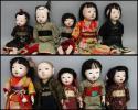 古い市松人形 三つ折れ人形 まとめて10体 江戸明治昭和