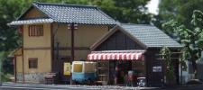 カワイの1/60駄菓子屋とイマイの居酒屋セットディオラマ完成品