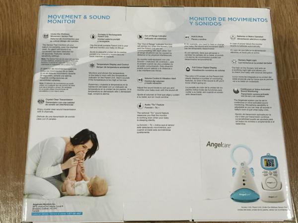 angelcare AC401 エンジェルケア ベビーモニター 新品未開封品の画像3
