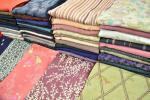 小紋着物など大量50枚まとめ売り!◆リメイク材料/お召等-4614