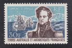 仏領南極地域(航空)探検家デュルヴィル(未)1種完