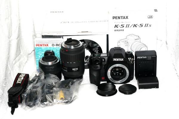 【元箱・取説付】 Pentax ペンタックス K-5 II 純正ダブルレンズの画像2