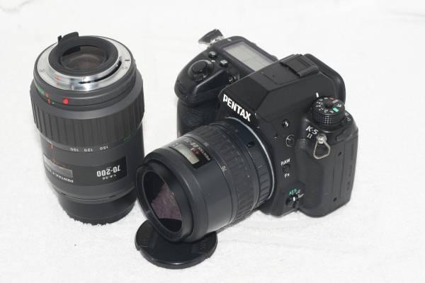 【元箱・取説付】 Pentax ペンタックス K-5 II 純正ダブルレンズの画像1