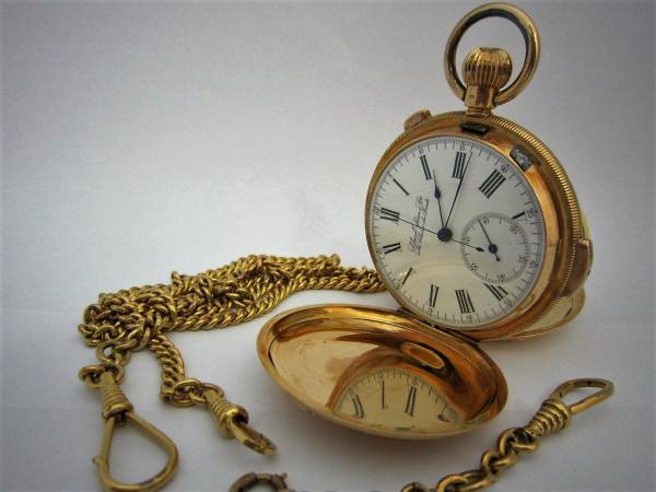 ミニッツリピーター クロノグラフ K18 手巻式 懐中時計の画像1