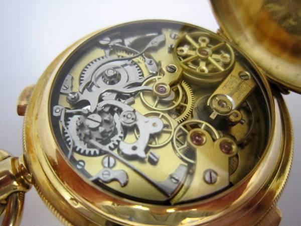 ミニッツリピーター クロノグラフ K18 手巻式 懐中時計の画像2