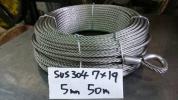 ステンレス ワイヤーロープ 5mm 50m巻