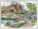 クロスステッチ 刺繍キット,美麗庭と家