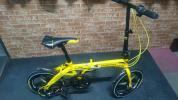 【売り切り】折りたたみ自転車 16インチ 6段 ディスク イエロー