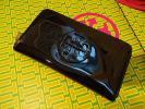 トリバーチ定価4万素敵人気高級艶やかZIPロゴ長財布新品本物黒