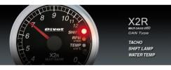【 PIVOT 】 マルチゲージ [X2R] φ60 CAN タコメーター&水温
