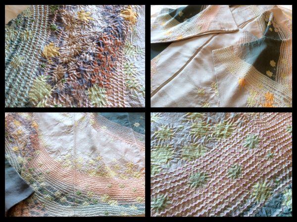 極上の逸品□正絹□滝泰□おぼろ染総絞り相楽刺繍菊紅葉柄訪問着の画像2