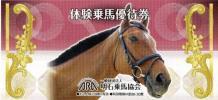 2名様が無料★体験乗馬優待券★明石乗馬協会★~28-12/3