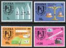 切手 ガーナ 計量 メートル法 天秤 温度計 スケール 4V A999