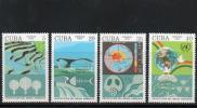 切手 キューバ 環境保全 温暖化 オゾン クジラ 鯨 地球 4V B067