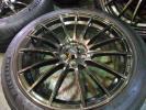 美品★WEDS SPORT SA-15R 軽量★18×7.5J+45 100/5Hタイヤ付4本