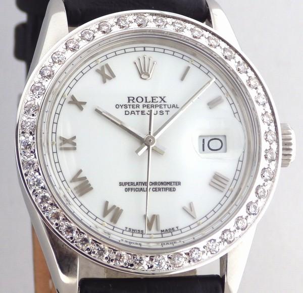 ロレックス デイトジャスト16014 R番 白ローマ ダイヤ ROLEX尾錠