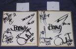 ボウイ・BOOWY 4人全員直筆サイン色紙 どちらか1点 TOSHIBA EMI