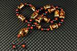 △峰△AI030 ■天然瑪瑙 3眼天珠 手工串製 数珠 仏珠