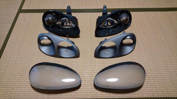 ★ジャンク★ カプチーノ ヘッドライト 加工ベース 型取り等に♪