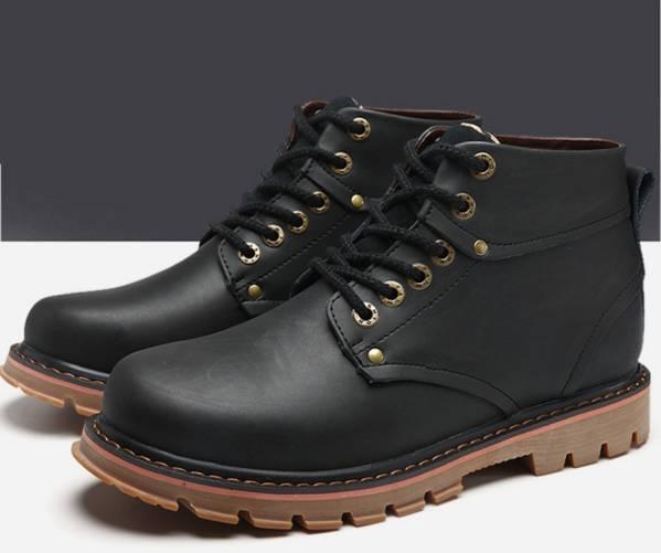 ◆秋冬◆美品◆本革◆ メンズシューズ ブーツ黒_画像1