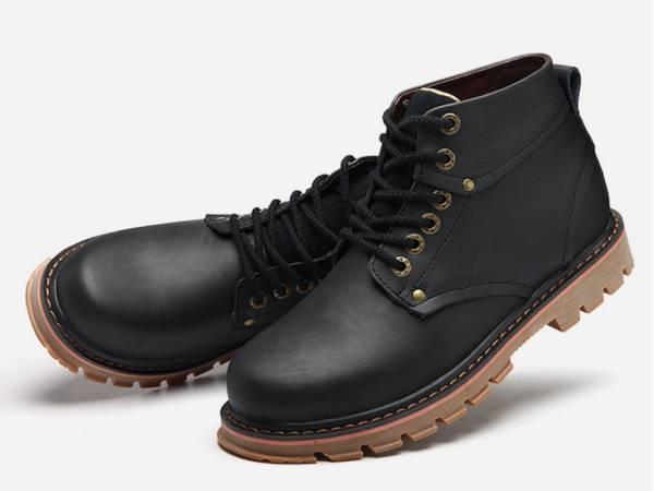 ◆秋冬◆美品◆本革◆ メンズシューズ ブーツ黒_画像3