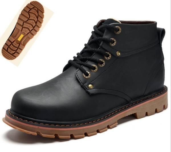 ◆秋冬◆美品◆本革◆ メンズシューズ ブーツ黒_画像2