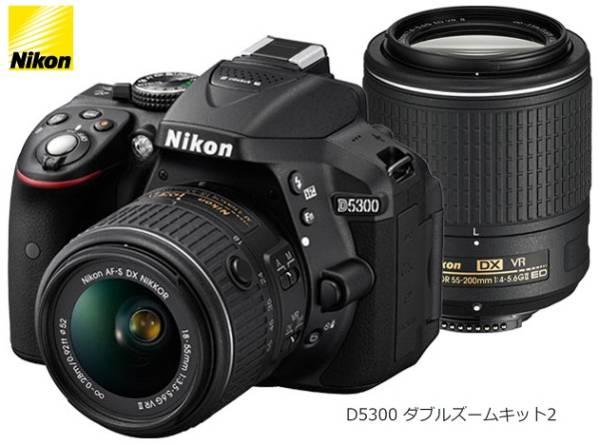 【新品・未使用】NikonニコンD5300ダブルズームキット2一眼