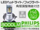 1円~PhilipsヘッドライトLED車検対応8000LM H4 H8 H11 HB3 HB4p