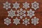 タティングレース 雪の結晶 モチーフ handmade クリスマスに☆