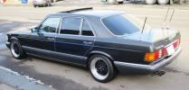W126 ベンツ 560SEL YANASE物 黒レザー AMGホイール