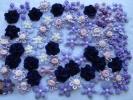 バイオレットカラーモチーフ130個以上◆花いっぱい
