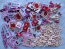 ピンクカラー◆タグ88&リボンボタン19&丸ボタン61