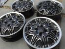 ◆◇ブラックダイヤモンド 15x5.5j+45 100-4H 深リム 軽自動車◇