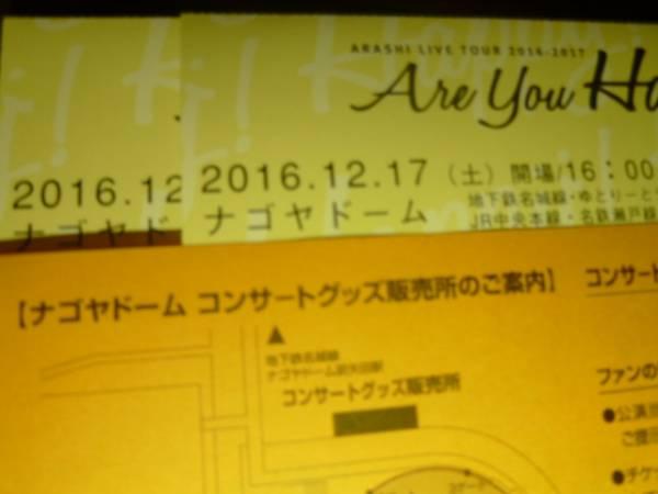 嵐 ARASHI ナゴヤドーム 12/17(土) アリーナ席ペア