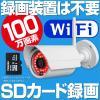 防犯カメラ ワイヤレス WiFi SDカード 録画 100万画素 スマホ