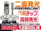 新基準車検対応12800LM LEDヘッドライト H4/H8/H11/HB3/HB4 8p