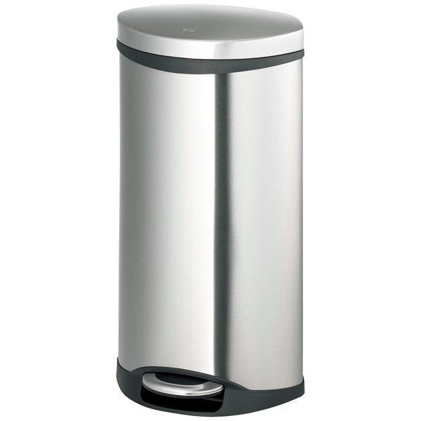 EKO ステンレスペダル式ゴミ箱 楕円型 30L 光触媒コート