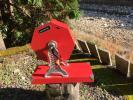 ■レトロ■寂びた木製赤いガラガラ 抽選機 回転 福引