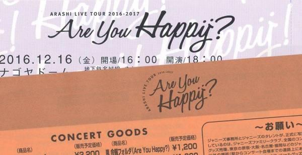 嵐 ARASHI ナゴヤドーム 12/16 (金) スタンド席 ペア 名古屋