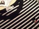 新品 ミキハウス ダブルB 120 長袖 Tシャツ 白 黒 ボーダー 110
