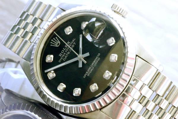 ◆ロレックス デイトジャスト 16030 10Pダイヤ OH済 美品◆
