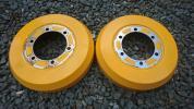 200系ハイエースにて使用 ドラムカバー 2枚セット 黄色 6穴