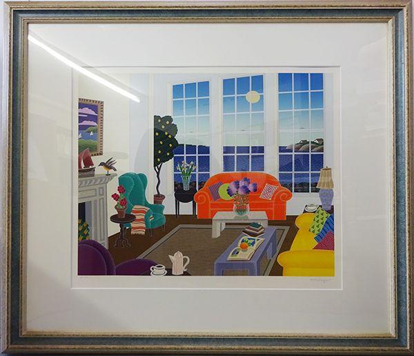トーマス・マックナイト版画額「ナンタケットルーム」